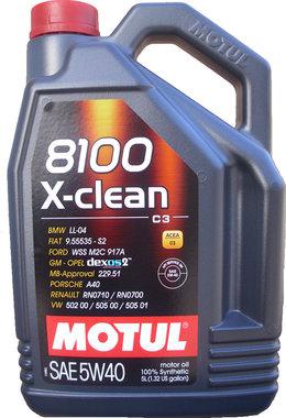 Motul 8100 X-Clean+ 5W-40 5L