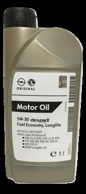 Opel 5W-30 origineel Dexos2 longlife motorolie (1 liter)