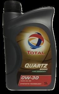 TOTAL QUARTZ 9000 FUEL ECONOMY 0W-30 (VOLVO VCC 95200377)